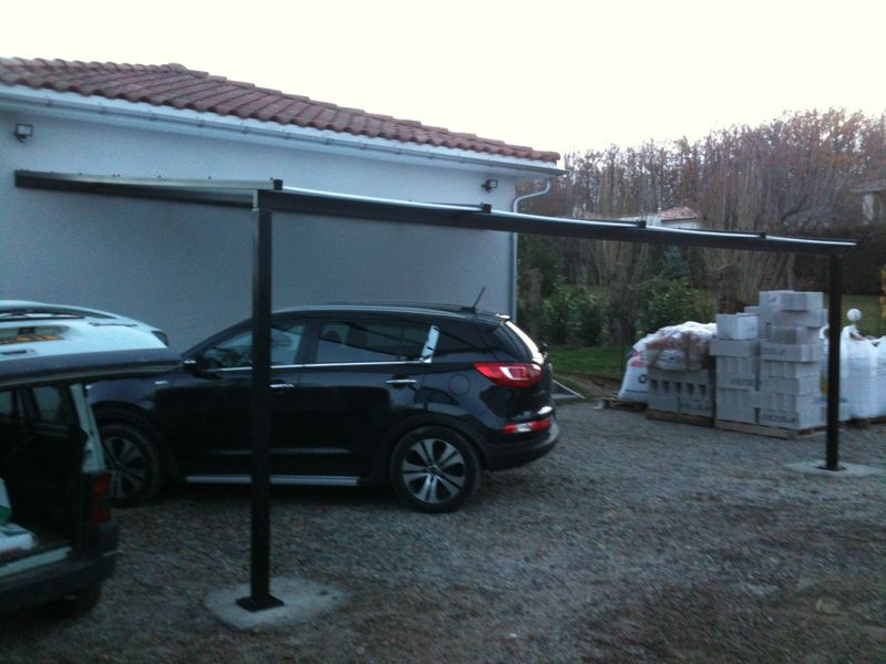 carport m tal sur mesure. Black Bedroom Furniture Sets. Home Design Ideas