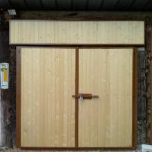 portail-garage-metal-bois