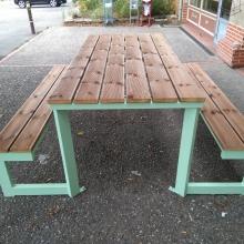 table-banc-metal-thermolaquage